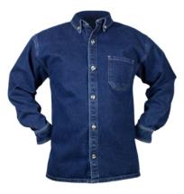 Camisa en Jean Indigo