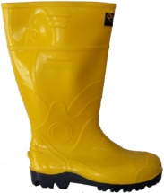 Bota de caucho amarilla